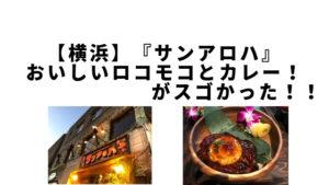 【横浜】おいしいロコモコとカレー!『サンアロハ』がスゴかった!!